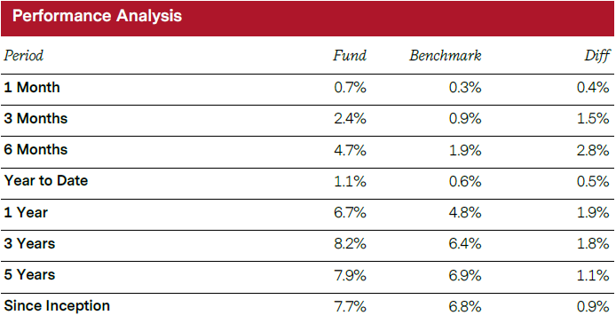 Rich Ideas Income Fund Performance